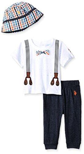 Pick SZ//Color. Polo Assn U.S Baby Boys T-Shirt and Pant Set