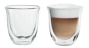 Set da 2 Grandi vetri Termici a Doppia Parete Vetro per caff/è//Termici per Cappuccino Bicchieri in Vetro borosilicato Resistente al Calore 200ml