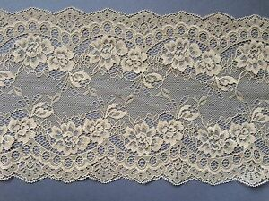 "Laces Galore ~~Clipped Coffee Skintone Wide Delicate Lace 7.5/""//19 cm Craft Trim"