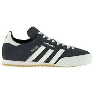 adidas-Mens-Samba-Suede-Trainers-Lace-Up-Training-Leather-Upper-Sports-Shoes