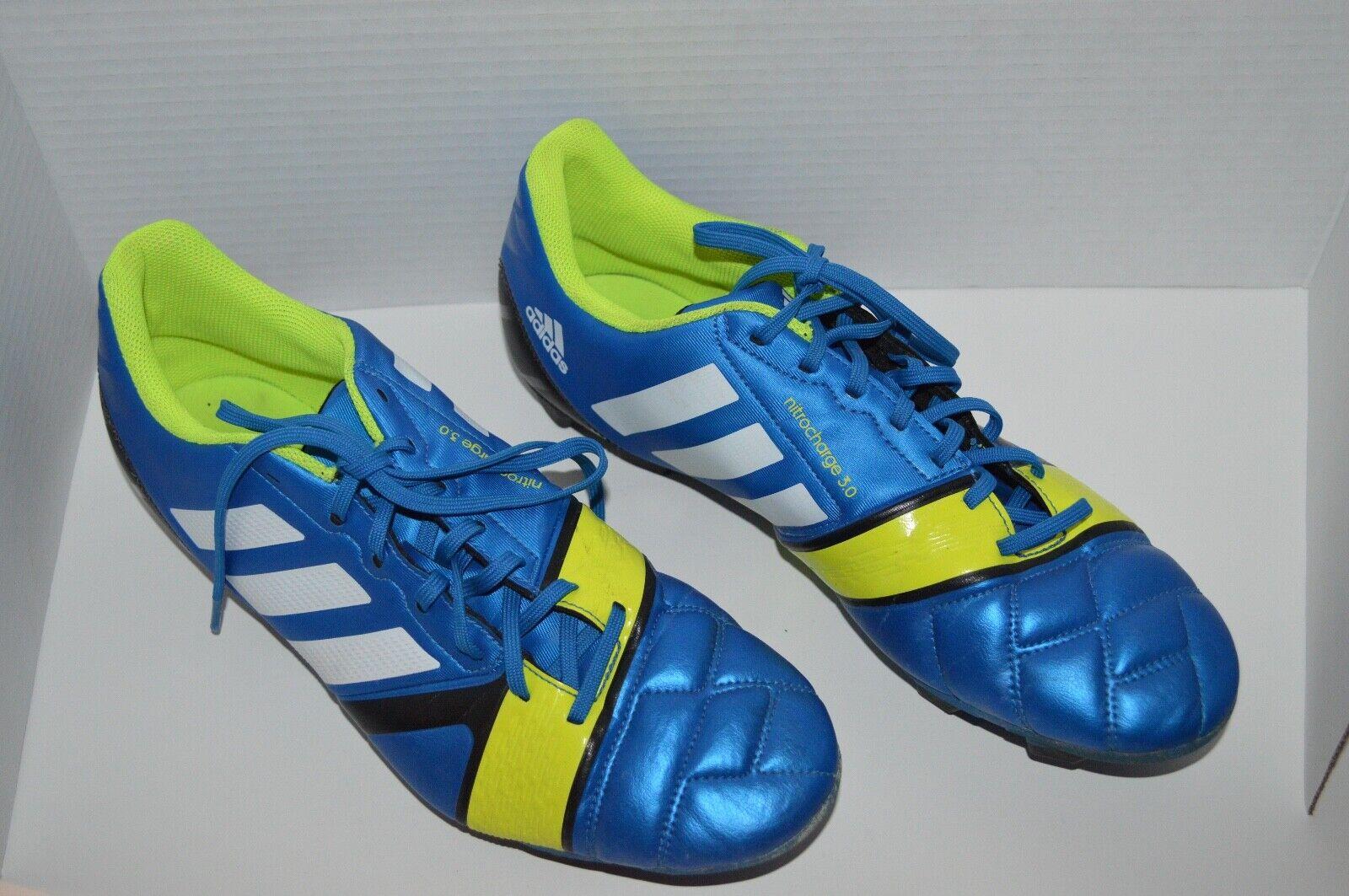 4548f9222 Adidas Nitrocharge 3.0 Mens Size 12 Cleats bluee nveosp291-Men ...
