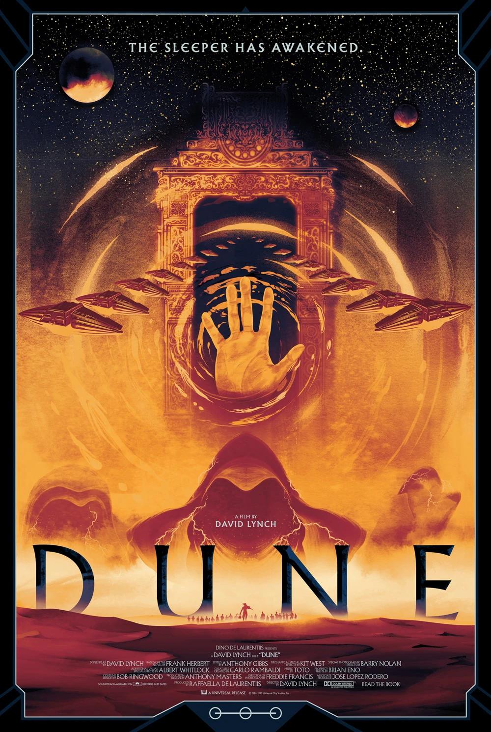 Dune Movie Poster Screen Print Art Bottleneck Gallery Matt Griffin Variant Ebay