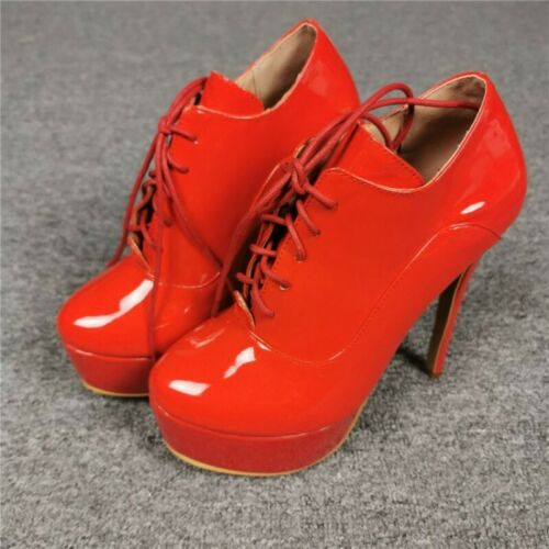 Details about  /Original Intention New Women/'s Black Boots Round Toe Thin High Heels Shoes 35-47