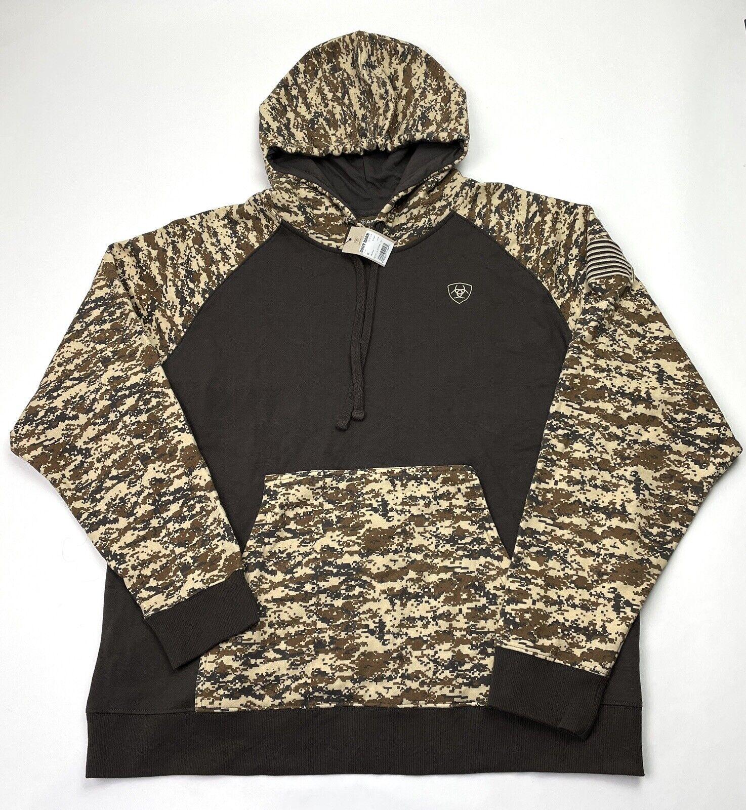 Ariat Mens Patriot Desert Digital Camo Hoodie Size XL 10022684