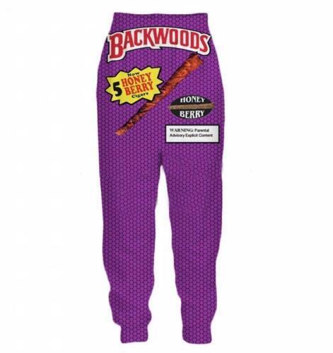 Backwoods Honey Berry 3D Print Men//Women hoodies pants sets Tracksuit Sweatsuits