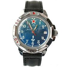 New VOSTOK Military Komandirskie Russian Leather Wrist Watch #811289 - US SELLER