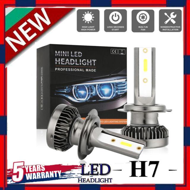 H7 LED Headlight Kit 480W High or Low Beam Bulbs 6500K Bright VS Xenon HID Pair