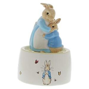 Beatrix-Potter-Peter-amp-Mrs-Rabbit-Musical-Ceramic-Keepsake-Music-Ornament-Gift