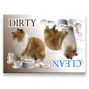SIBERIAN HUSKY Clean Dirty DISHWASHER MAGNET No 1