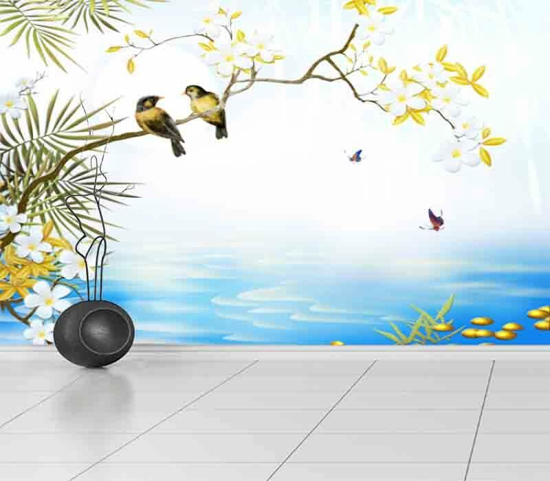 Harmonious Magpies 3D Full Wall Mural Photo Wallpaper Printing Home Kids Decor