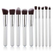 10x White Pro Makeup Set Powder Foundation Eyeshadow Eyeliner Brushes Tool