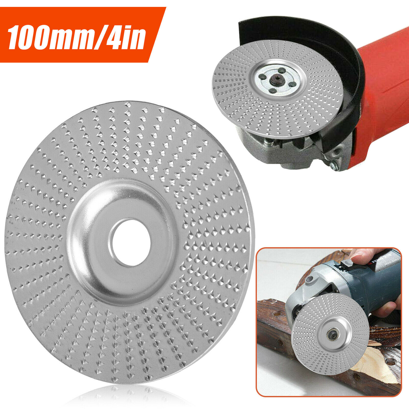 Carbide Wood Sanding Carving Shaping Disc Fits Angle Grinder//Grinding Wheel Tool