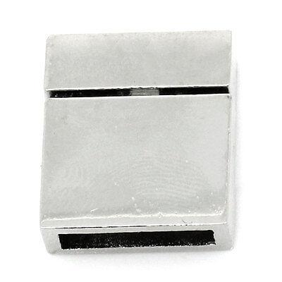 25 Silberfarbe Rechteck Magnetverschluss Verschlüsse 21mm x 17mm
