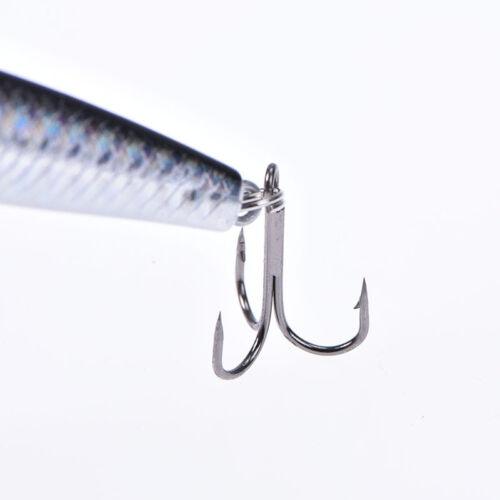 1pc 9.5cm//8.5g minnow hard fishing lure with hooks wobble floating crank bait EC