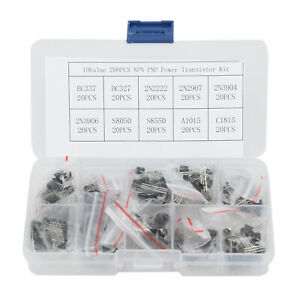 200pcs-10-Values-NPN-PNP-Power-Transistor-Assortment-Kit-W-Box-BC337-BC547-Etc