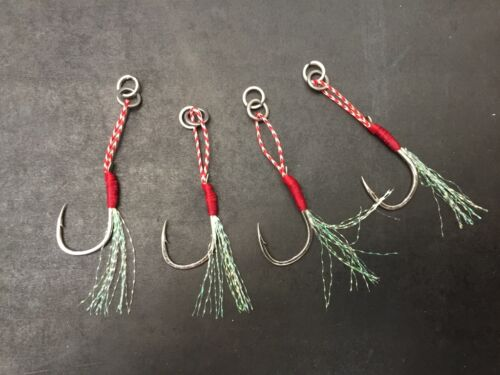 4x BKK size 30 Micro jig assist hooks flasher stinger hook inchiku octo jigs