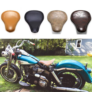 Motorcycle-Spring-Solo-Bobber-Seat-For-Harley-Sportster-Softail-Chopper-Yamaha