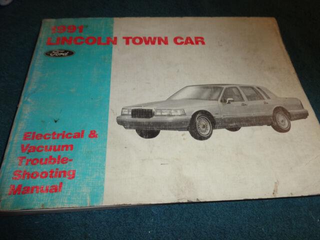 1991 Lincoln Town Car Wiring Vacuum Diagram Shop Manual