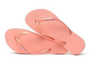 f7c8128cd45d7 Havaianas Women`s Flip Flops Slim Logo Metallic Sandals Light Pink ...