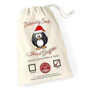 Personalizzata-NATALE-Santa-Sacco-Penguin-NATALE-REGALO-CALZA