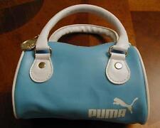 Puma Small BABY BLUE Mini Pouch Purse Makeup Cosmetic Pochette Handbag Ipod Tech