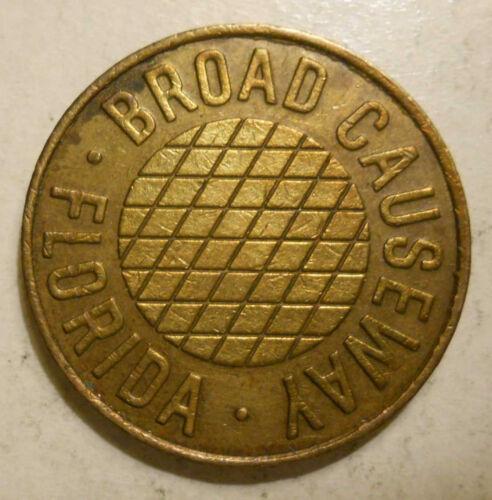 FL60A Bay Harbor, Florida Broad Causeway transit token