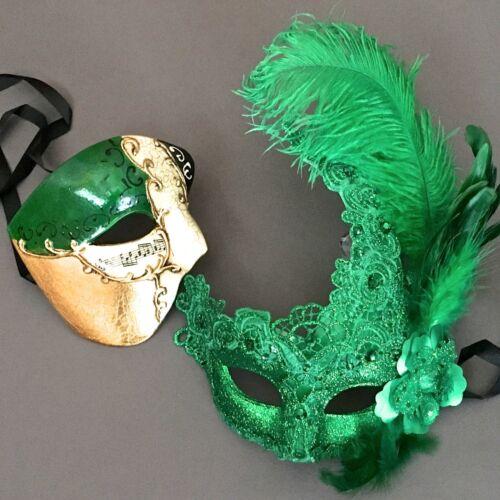 Men Women Brocade Lace Feather /& Phantom Masquerade Wedding Porm Masks