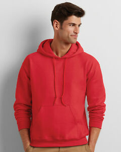 Gildan G18500 Heavy Blend Adult Unisex Hooded Sweatshirt 3XL 1 White 1 Red