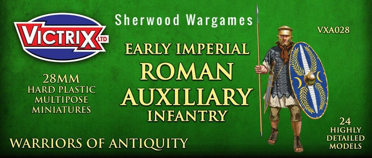 28mm Imperial Roman Auxiliary Infantry Victrix, Hail Caesar, Swordpoint Ancients