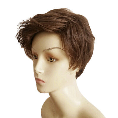 Boys Men S Short Brown Curly Hair Synthetic Cosplay Anime Wig Party Cosplay Ebay