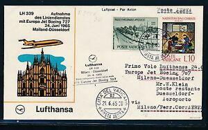 80482-Vatikan-Zul-zu-LH-FF-Milano-Duesseldorf-24-6-65-Stpl-schwarz