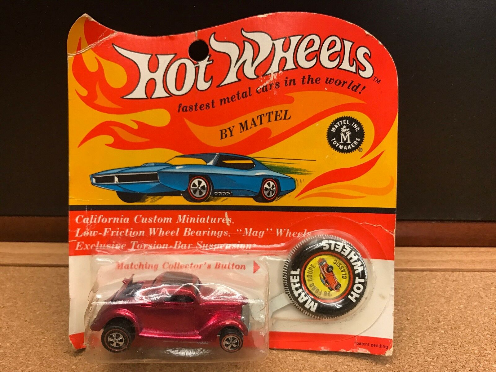 Hot wheels rougeline 1936 FORD COUPE CLASSIQUE 1969 Rose Rouge