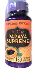 Ultra Papaya Enzyme Fruit Lipase Papain Protease 180 Chewable Tablets Pills