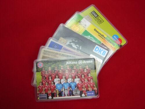 6x EC-Karten Schutzhülle Soft NEU Kreditkarte Bankkarte Scheckkarte Visitenkarte
