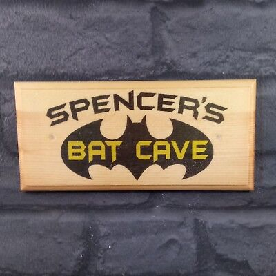 *NEW** Batcave Batman Logo Tin Sign