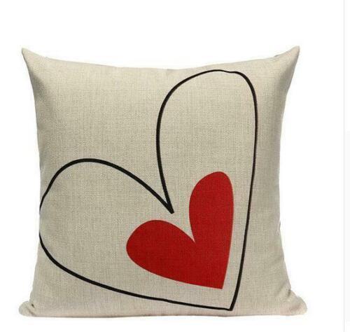 "18/""Personality Creative Red Pillow Case Linen Cushion Sofa Seat Waist Home Decor"