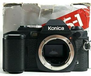 Konica-fs-1-35mm-SLR-Film-Camera-Body-boxed-Vintage-UK-Schnelle-Post