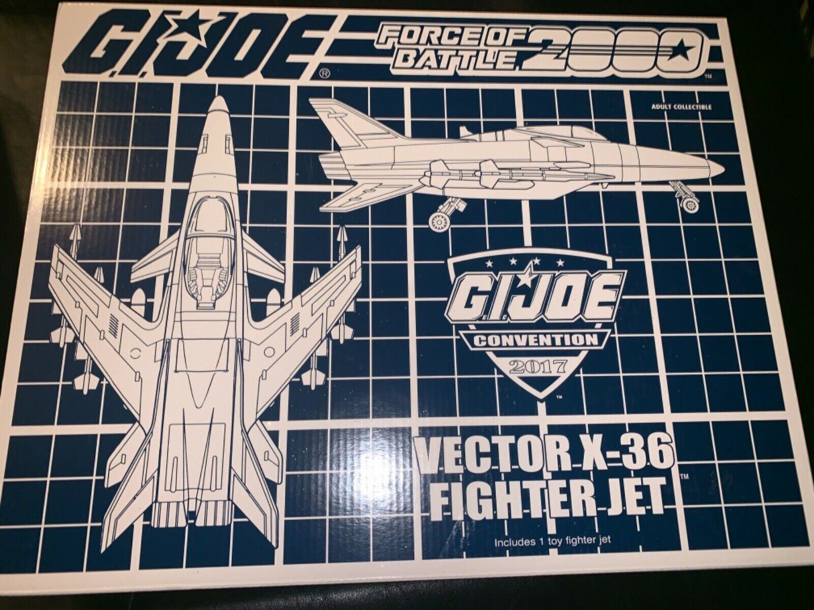 Gi Joe convenio con Exclusive 2017 Battle Force 2000 Vector (conquista) Raro
