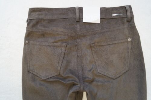 MAC  Carrie Pipe  Jeans Hose Gr.36-46 L30 Velourlederlook 2 Farben  NEU