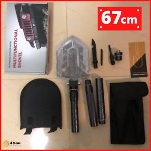 Ultimate Survival Tool 23-in-1 Multi-Purpose Folding Shovel Tactical Military