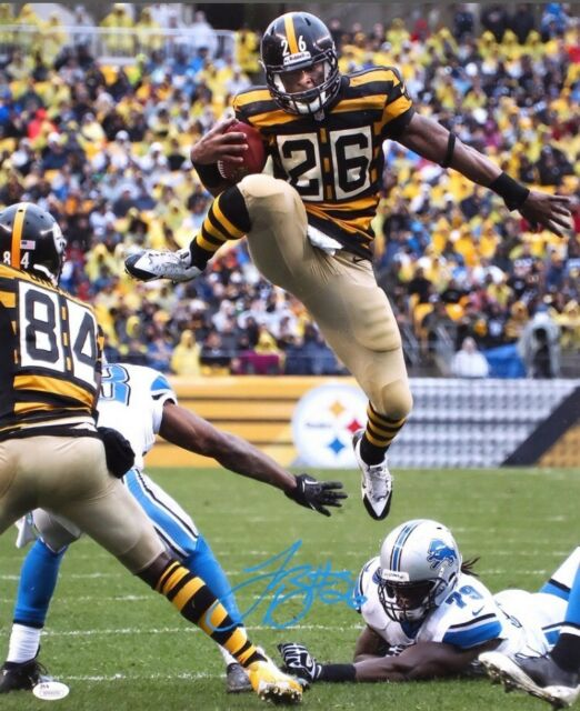 best service 99f20 585e6 Le'veon Bell Signed Pittsburgh Steelers Hurdle 16x20 Photo JSA