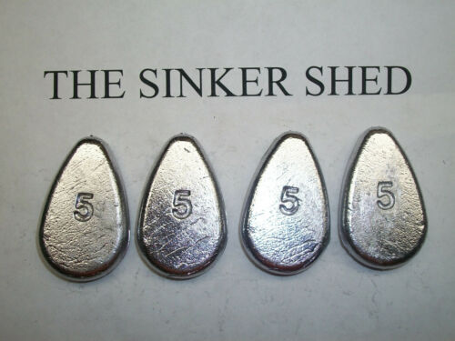 5 oz no roll slip sinkers  - quantity of 12/25/50/100/200 - FREE SHIPPING