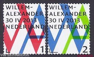 NVPH-3057-3058-INHULDIGINGSPOSTZEGEL-WILLEM-ALLEXANDER-1-2-gestanst-2013-pf