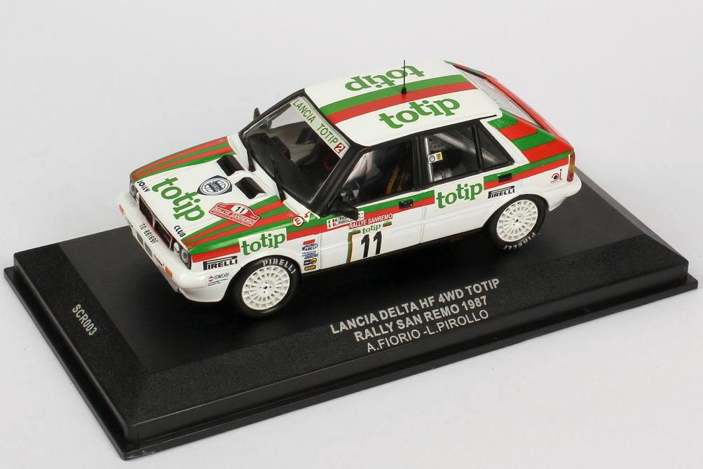 LANCIA DELTA HF 4WD TOTIP  11 RALLYE SAN REMO 1987 FIor PIROLLO IXO SCR003 1 43