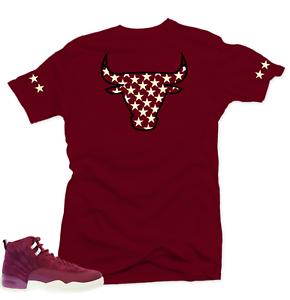 b8c764c022a Shirt to match Air Jordan Retro 12 Bordeaux Sneakers.Bull XII Maroon ...
