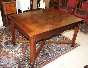 Details about French Antique Oak Louis XV Draw Drop Leaf Dining Room  Kitchen Table