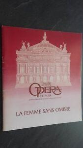 Programma Theatre National Opera Parigi La Donna Senza Ombra 1980 Tbe