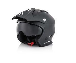 ACERBIS-jet-ARIA-casco-in-fibra-HELMET-Trial-nero-opaco-con-occhialino