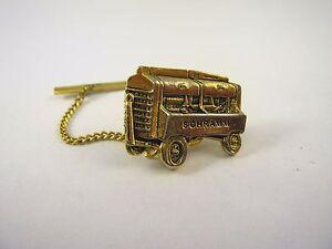 Vintage Lapel Hat Pin: SCHRAMM Machine Gold Tone