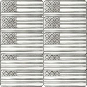 American-Flag-10oz-999-Silver-Bar-10-Piece-Lot